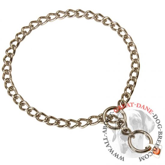 Stainless Steel Chain Great Dane Choke Collar - 1/9 inch (3 mm)