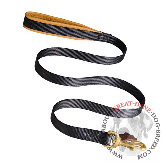 Comfortable Dog Leash with Padded Handle - Nylon Great Dane Leash