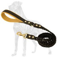Great-Dane-Breed-Leather-Leash-Braided