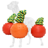 Dotted Rubber Great Dane Ball for Training - Medium