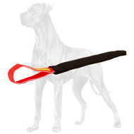 Puppy Training Pocket Toy with Handle for Young Great Dane