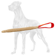 Pocket Jute Bite Tug for Great Dane