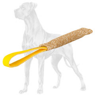 Space-Saving Pocket Jute Great Dane Bite Tug for Puppy Training