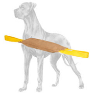 Leather Dog Bite Tug with 2 Nylon Handles for Great Dane