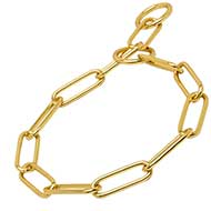 """Call to Order"" Brass Choke Chain Collar for Great Dane - 1/6 inch (4 mm)"