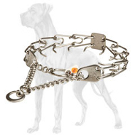 Chrome Plated Great Dane Pinch Collar - 1/6 inch (3.99 mm)