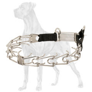 Stainless Steel Great Dane Pinch Collar with Click Lock Buckle - 1/8 inch (3.2 mm)