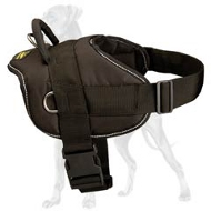 Nylon Multi-purpose Great Dane Harness for Tracking, Pulling with Handle
