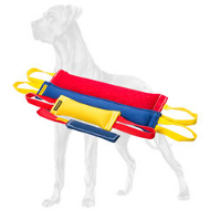 Professional Set of 4 French Linen Bite Tugs for Great Dane