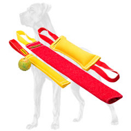 Puppy Training Set of French Linen Great Dane Bite Tugs