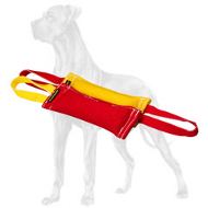 Set of 2 French Linen Bite Tugs for Great Dane Puppy