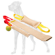 Puppy Training Jute Set of Bite Tugs for Great Dane