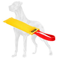 French Linen Great Dane Bite Tug with a Functional Handle