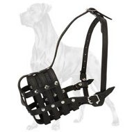 Adjustable Basket Canine Muzzle with Perfect Air Flow for Great Dane