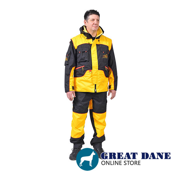 Bite Suit of Wind Resistant Membrane Material for Training