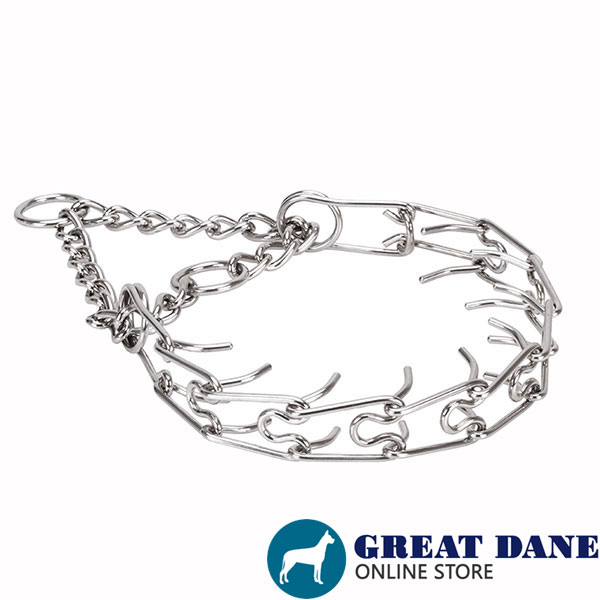Stainless steel prong collar for ill behaved pets
