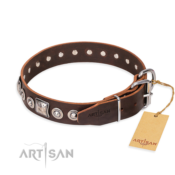 Stylish leather collar for your favourite pet