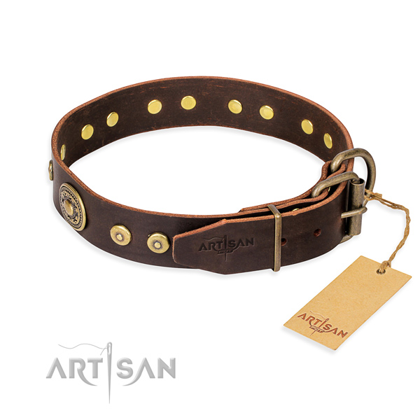Tear-proof leather collar for your handsome canine