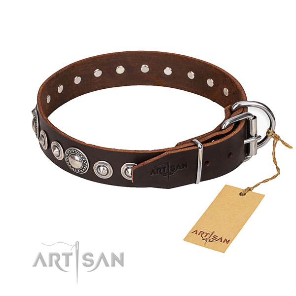 Practical leather collar for your handsome dog