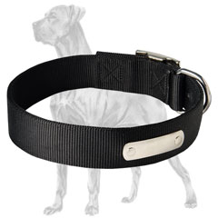Great-Dane-Breed-Nylon-Collar-With-Name-Tag-Strong