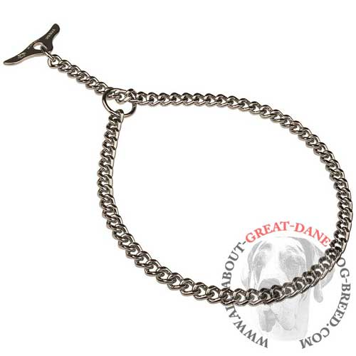 Handy choke chain Great Dane collar for training