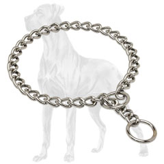 Durable Great Dane choke collar with strong ring