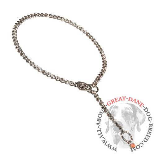 Reliable choke chain collar for Great Dane