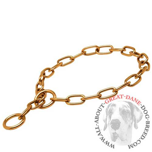 Choke chain curogan fur saver for Great Dane