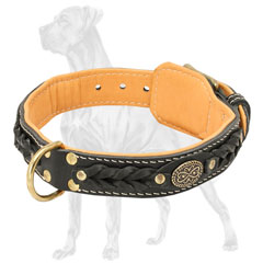 Leather Dog Collar with D-Ring