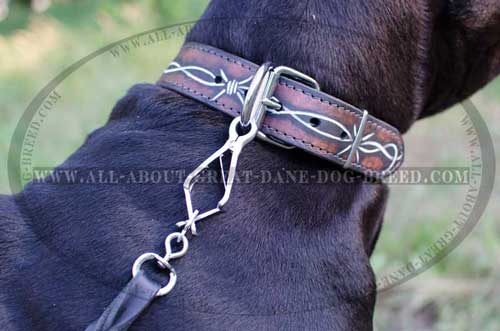 Safe&Soft Leather Great Dane Collar