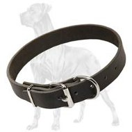 Gorgeous Leather Dog Collar for Great Dane - 1 1/5 (3 cm) wide