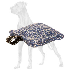 French Linen Great Dane Bite Pillow with Loop