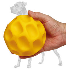 Large tetraflex treat dispensing Great Dane ball