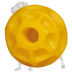Treat dispensing tetraflex ball for Great Dane