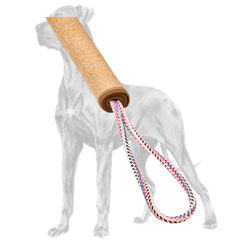 Jute Great Dane bite roll with nylon loops