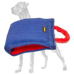 French linen Great Dane bite sleeve for puppy training