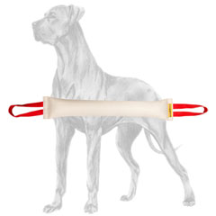 Long tough bite tug for Great Dane breed