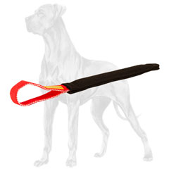 Tear resistant french linen Great Dane bite tug