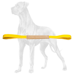 Obedience training leather bite tug for Great Dane