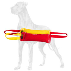Set of duly stitched bite tugs for Great Dane