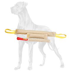 Set of 3 extra durable bite tugs for Great Dane