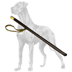 Plastic Great Dane stick covered with leather