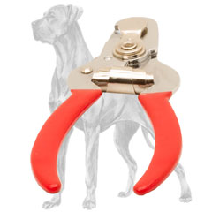 Safe Great Dane trimmer with stop for fixed clipping