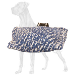 Small French Linen Great Dane Bite Tug