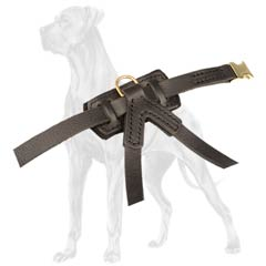 Anti-Rubbing Leather Dog Harness Back Felt Padding