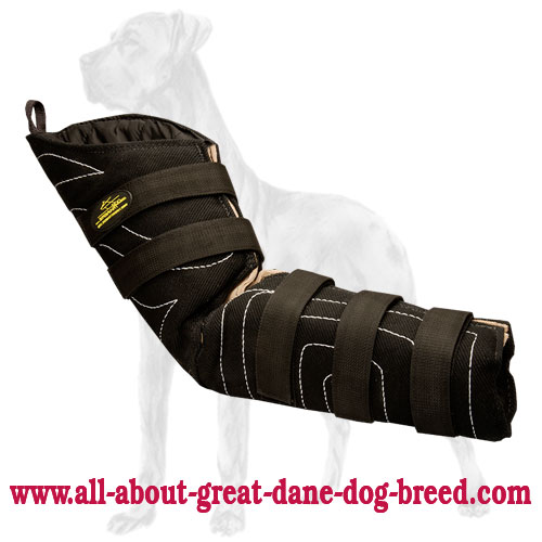 French Linen Bite Protection Sleeve for Great Dane Breed