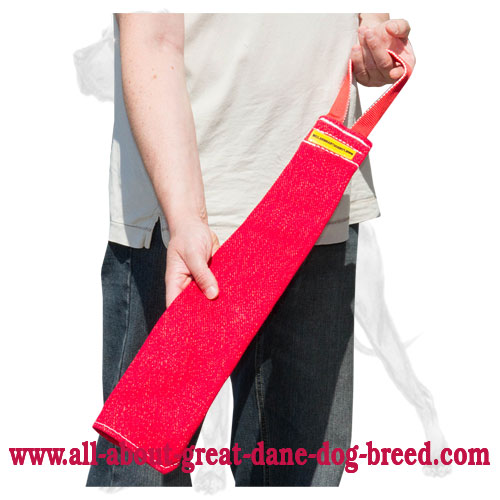 French Linen Great Dane Rag for Prey Drive Improvement