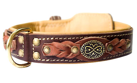 Handcrafted Leather dog collars for Great Dane handmade