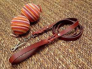 Great Dane Handcrafted Leather Leash with Quick Release Snap Hook