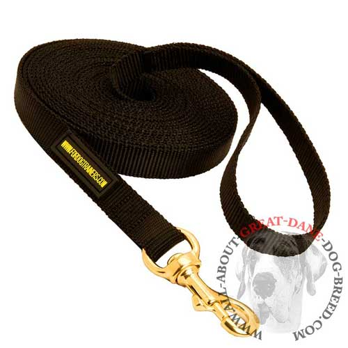 Extra Long Nylon Great Dane Leash for Tracking and Training